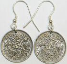 Coin Earrings - British Sixpence Earring Pair Your Choice of Date 1947 to 1967