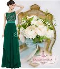 BNWT ALICE Emerald Green Lace Chiffon Prom Evening Bridesmaid Dress UK 6 -18