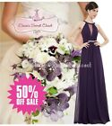 BNWT ORLA Purple Chiffon Maxi Prom Evening Bridesmaid Dress UK 6 - 18