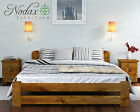 *NODAX* Wooden Furniture Pine Bedframe Small Double 4ft UK Size Oak Colour – ONE