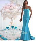 DALLAS Aqua Blue Beaded Embellished Bridesmaid Ballgown Dress Sizes UK 6 -16