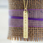 9CT GOLD PLATED PERSONALISED INGOT STYLE RECTANGLE BAR PENDANT CHAIN OPTION GIFT