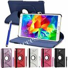 360 ROTATING FLIP PU LEATHER CASE COVER POUCH FOR SAMSUNG GALAXY TAB S TABLET