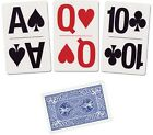Bicycle Playing Cards Large Print Bridge Size - Lo Vision Easy to See Blue / Red