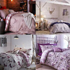 Catherine Lansfield Bedding Stag Deer Design Cotton Quilt Cover Duvet Bed Set