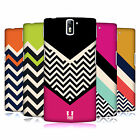 HEAD CASE DESIGNS COLOUR BLOCK CHEVRON HARD BACK CASE FOR ONEPLUS ONE
