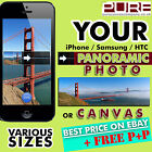 iPhone Smartphone YOUR PANORAMIC Photo Print on Canvas or Photo Panorama