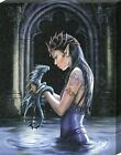 Anne Stokes Water Dragon Canvas Print 19x25cm