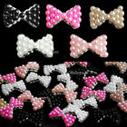 10x 3D Alloy Pearl Bow Tie Bowtie Nail Art Glitters Stickers DIY Decorations