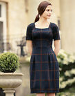 Bravissimo jERSEY CHECK DRESS RRP £65 in NAVY MIX (23)