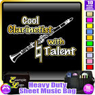 Clarinet Cool Player With Natural Talent - Sheet Music Custom Bag by MusicaliTee