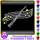 Sax Soprano Curved Stave - Personalised Music T Shirt 5yrs-6XL MusicaliTee 2