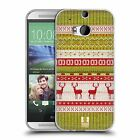 HEAD CASE KNITTED CHRISTMAS SILICONE GEL CASE FOR HTC ONE M8
