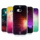 HEAD CASE PRINTED STUDDED OMBRE SILICONE GEL CASE FOR HTC ONE M8