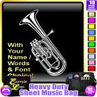 Tenor Horn Picture With Your Words - Sheet Music & Accessories Bag MusicaliTee