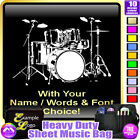 Drum Kit Picture With Your Words - Sheet Music & Accessories Bag by MusicaliTee