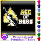 Double Bass Ace Of Bass - Personalised Music T Shirt 5yrs - 6XL by MusicaliTee