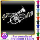 Flugelhorn Curved Stave - Personalised Music T Shirt 5yrs-6XL MusicaliTee 2