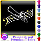 Trombone Curved Stave - Personalised Music T Shirt 5yrs-6XL MusicaliTee 2