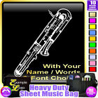 Bassoon Contra Picture With Your Words - Sheet Music Custom Bag by MusicaliTee