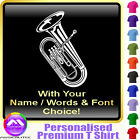 Euphonium Picture With Your Words - Music T Shirt 5yrs - 6XL by MusicaliTee