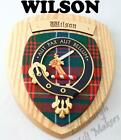 WILSON CLAN CREST WALL PLAQUE PLAQUES AVAILABLE IN ANY CLAN NAME
