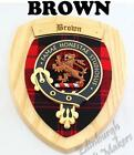 BROWN CLAN CREST WALL PLAQUE FAMILY WALL PLAQUES AVAILABLE IN ANY CLAN NAME