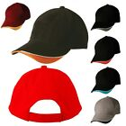 NEW UNISEX MENS WOMENS LADIES SPORTS CAP STRAP ON ADJUSTABLE SUN HAT 100% COTTON