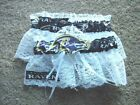 Baltimore Ravens Football NFL Bridal Garter Set White lace Regular / Plus size