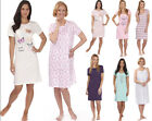 Womens Nightdress Cotton PJ Pyjama Nightie Ladies Night Wear Pyjamas Sizes 8-22