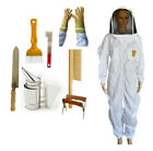 BEEKEEPING BEE SUIT HEAVY DUTY GLOVES SMOKER HIVING TOOL BRUSH & FRAME GRIP