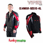 CLEARANCE VIPER MOTORBIKE SPORTS CORETECH JACKET BLACK RED ARMOURED 600D CHEAP