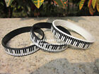 Piano Keys Bracelet Rubber Music Keyboard Wristband Pianist Player