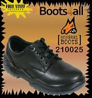 New Mongrel Work Boots Black Lace Up Derby Shoe Steel Toe Safety 210025