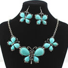 Charm Butterfly Crystal Choker Chunky Statement Bib Necklace Jewelry Pendant New
