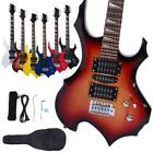 New 6 Colors Flame Type Beginner Electric Guitar +Bag Case +Cable +Strap...