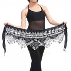 Belly Dancing Hip Scarf Skirt Wrap Gold or Silver Coins Waist Chain Fashion Hot