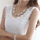 Lady  Floral Lace Crochet Vest Sleeveless Stretchy Tank Top Tunic T Shirt Modern