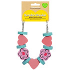 BOREDOM BREAKER SMALL ANIMAL WOODIES GNAW SPORTS FLOWER GARLAND HANGING CAGE TOY