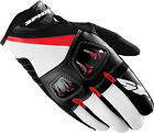 Spidi Flash-R Black/Red Mens Motorcycle Riding Gloves Sport Bike Glove