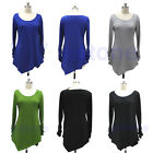 Hot Women Warm Casual Crew Neck Long Sleeve Pullover Jumper Loose Sweater Dress
