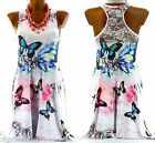 Women's Butterfly Tunic Dress Lace Back UK Sizes 8-16-FRANCINE-CharlesElie94