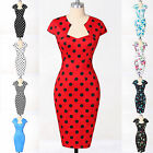 HOT 1940's 50's dress Vintage Style Pinup Wiggle Pencil Dress Rockabilly Bodycon
