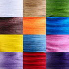 30M New Waxed Cotton Cord 1mm For Bracelet Necklace 12 Colors Multifunction