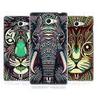 HEAD CASE AZTEC ANIMAL FACES SERIES 2 SILICONE GEL CASE FOR SONY XPERIA M2