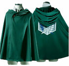 Cosplay Attack On Titan Shingeki No Kyojin Anime Cloak Cape Costume S-3XL
