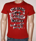 Shirt T Mens Diesel red Trivi Style T shirt S, M. L  & XXL cotton emblem graphic