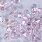 Fashion DIY jewelry 3/4mm100/1000pcs Glass Crystal #5301 Bicone Beads Pink AB
