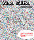 "Siser GLITTER Heat Transfer Vinyl 20"" x 9"" - 38 Colors to choose from!"