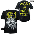 Authentic NAPALM DEATH Band Chaos Zombie Arrows Barbed Wire T-Shirt S-2XL NEW